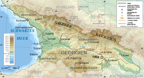 kart over kaukasus Klima og geografi i Georgia | Georgia.no kart over kaukasus